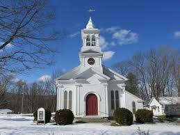 White Clapboard Church in the USA